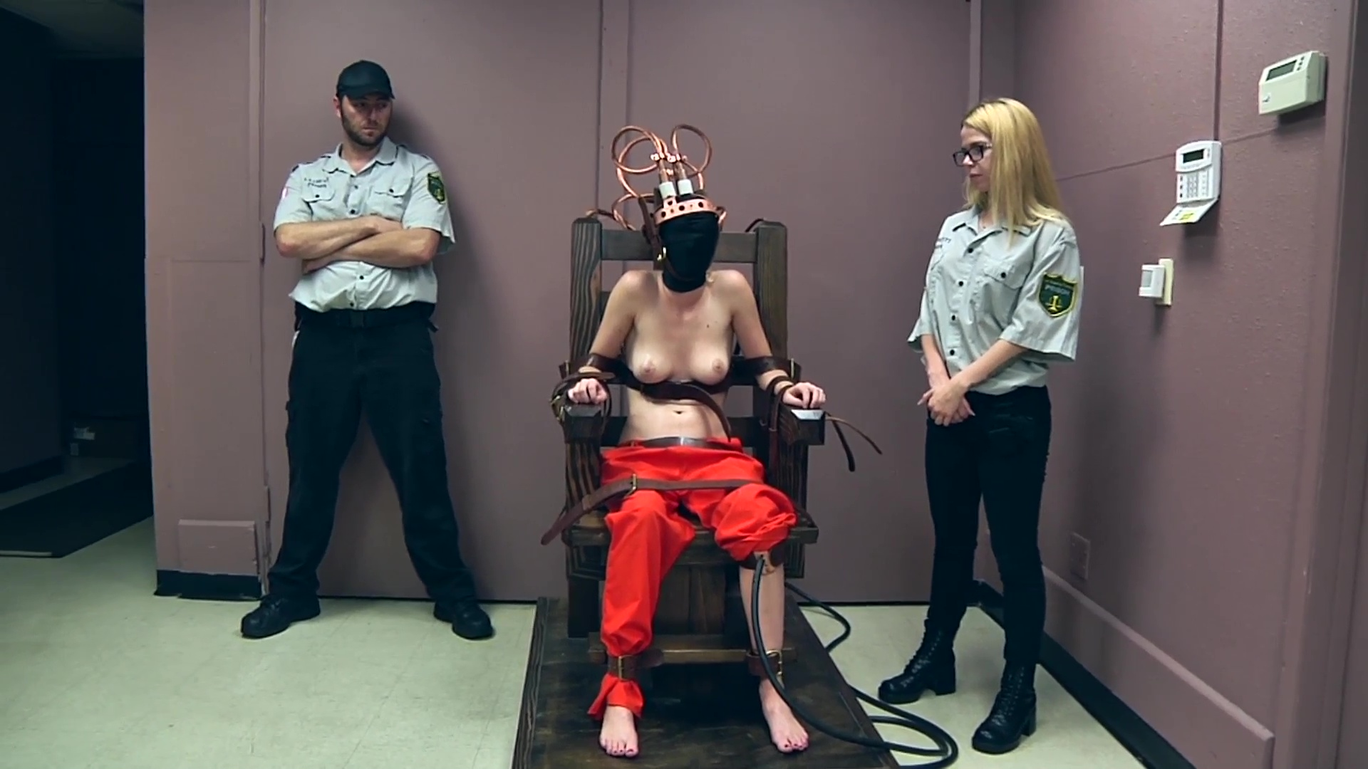 The Girl having sex with a electric chair