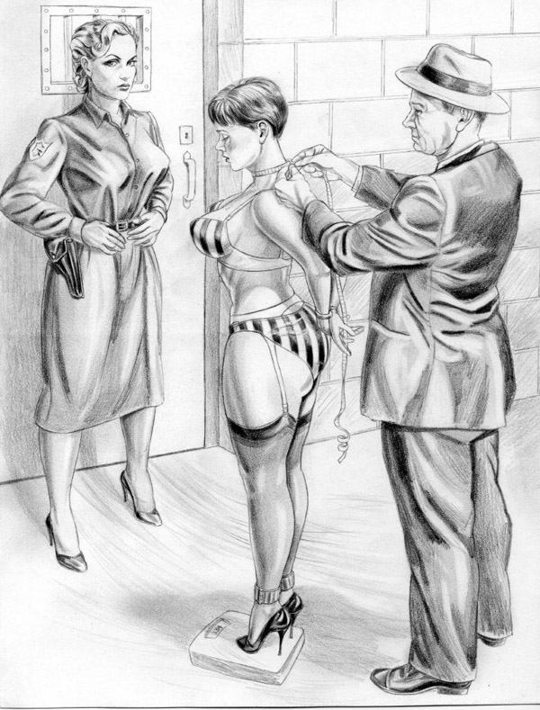 image Uniformed sex in stockings a garter and heels
